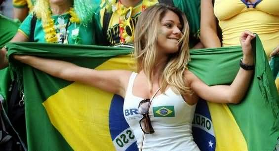 Beautiful soccer fan brazil apologise, but