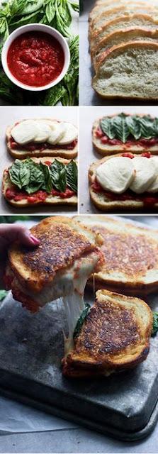 Pízza Margheríta Grílled Cheese