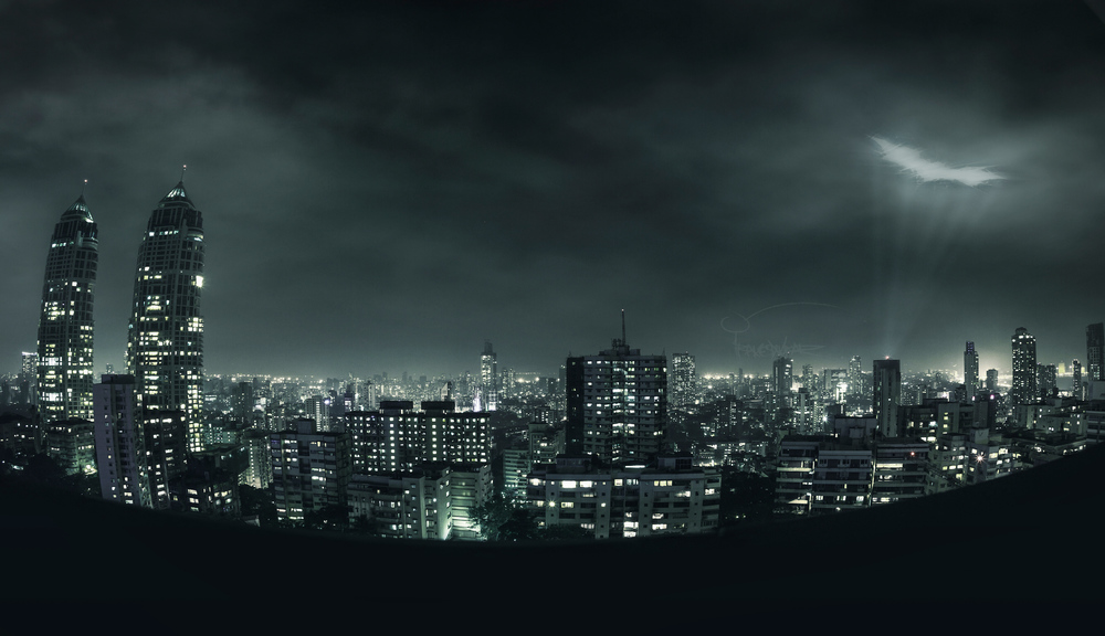 gotham city skyline stencil