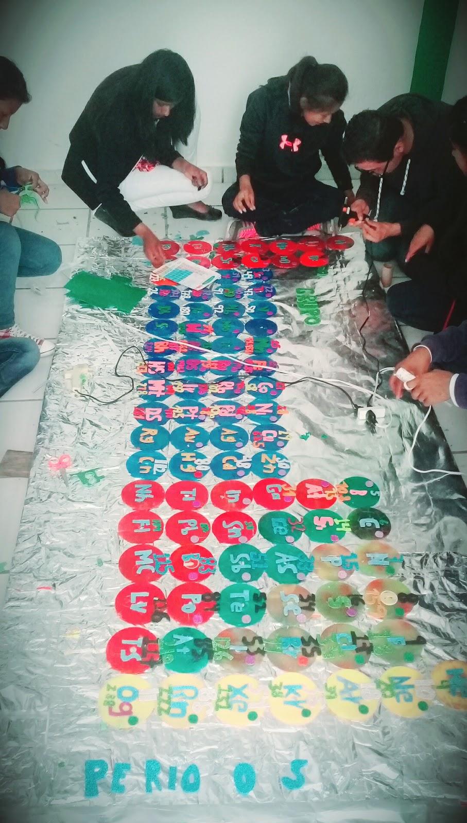 Grupo de 1 a cobaep p 30 consurso de tabla periodica nuestra tabla la hizimos de discos recicladosde envolturas de chetos y de sabritas para cubrir un pedazo de tabla periodica los simbolos los hizimos con urtaz Image collections