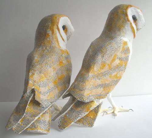 my owl barn anne lise koehler paper mache sculptures. Black Bedroom Furniture Sets. Home Design Ideas