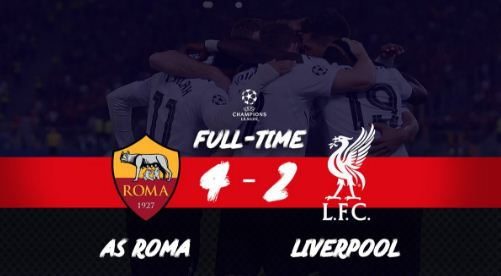 Roma vs Liverpool 4-2 Highlights