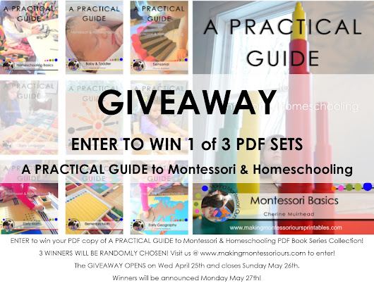 A PRACTICAL GUIDE to Montessori & Homeschooling PDF Book GIVEAWAY!!
