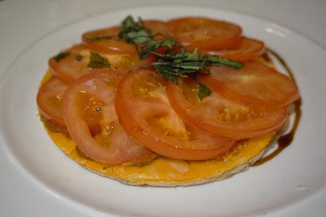 Gusto Leeds tomato and basil tart