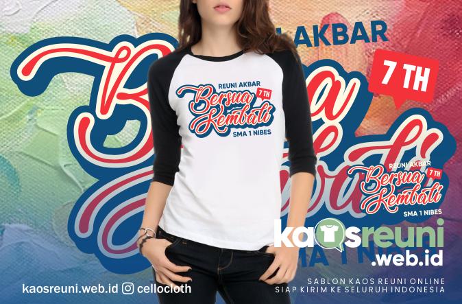 Desain Kaos Reuni SD SMP SMA Bersama Kembali di Reuni Akbar - Kaos Reuni