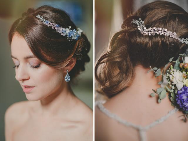 Glamour - kryształowa gałązka ślubna.