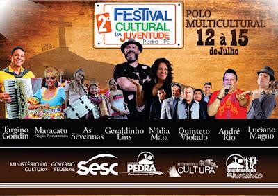 Festival Cultural da Juventude começa nesta quinta-feira (12) na Pedra