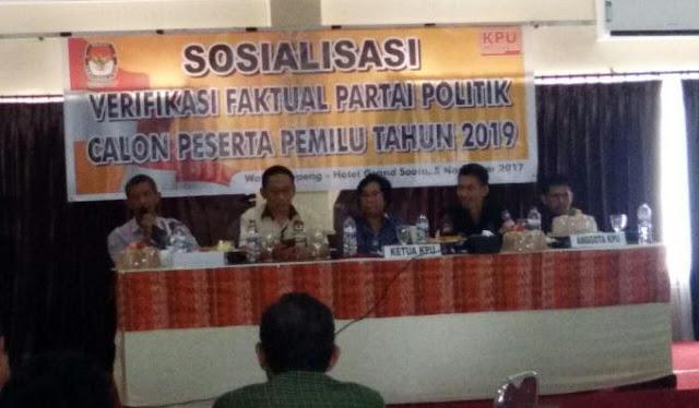 KPU Soppeng Gelar Sosialisasi Verifikasi Faktual Parpol