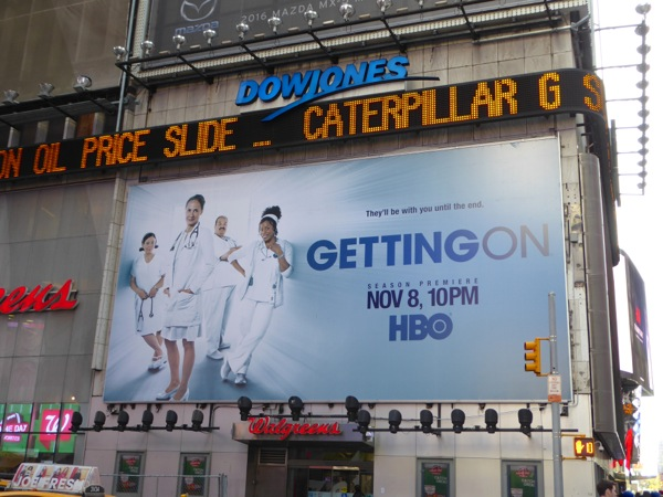 Getting On season 3 billboard Times Square NYC