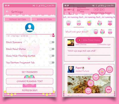BBM Mod Owl Pink V3.2.0.6 Apk Terbaru