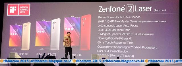Zenfone 2 Laser banyak variannya