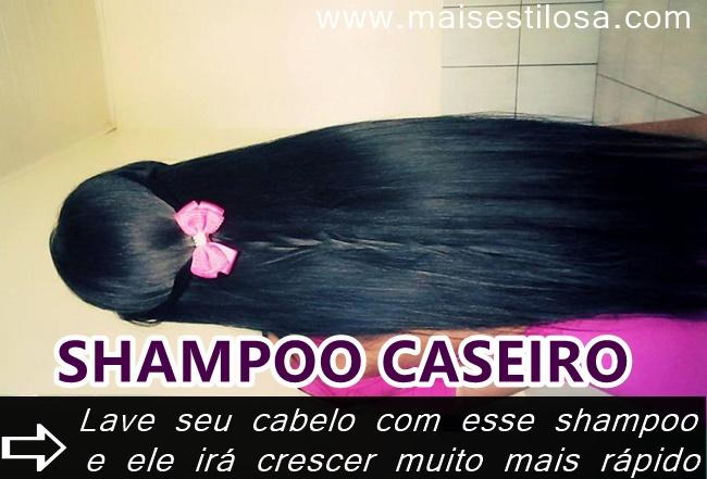 shampoo para cabelo crescer caseiro