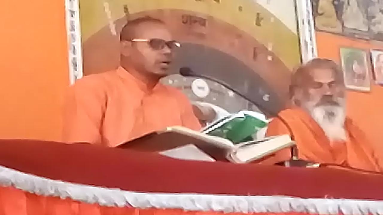 S265, महर्षि मेंहीं pravachan/अंतरर्नाद क्या है/anahat naad in hindi। प्रवचन पाठ करते स्वामी नंदन बाबा