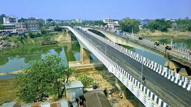 Newly inaugurated Barak Bridge at Silchar