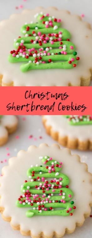 Christmas Shortbread Cookies #christmas #cookies