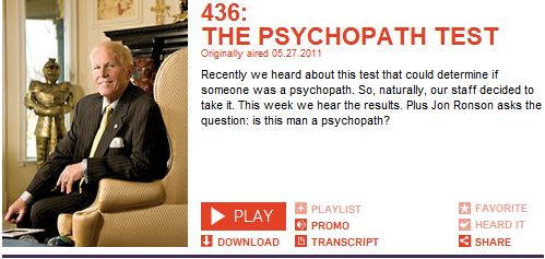 Psychopath Test Questions >> Parent Survival Skills Training Psst The Psychopath Test On This