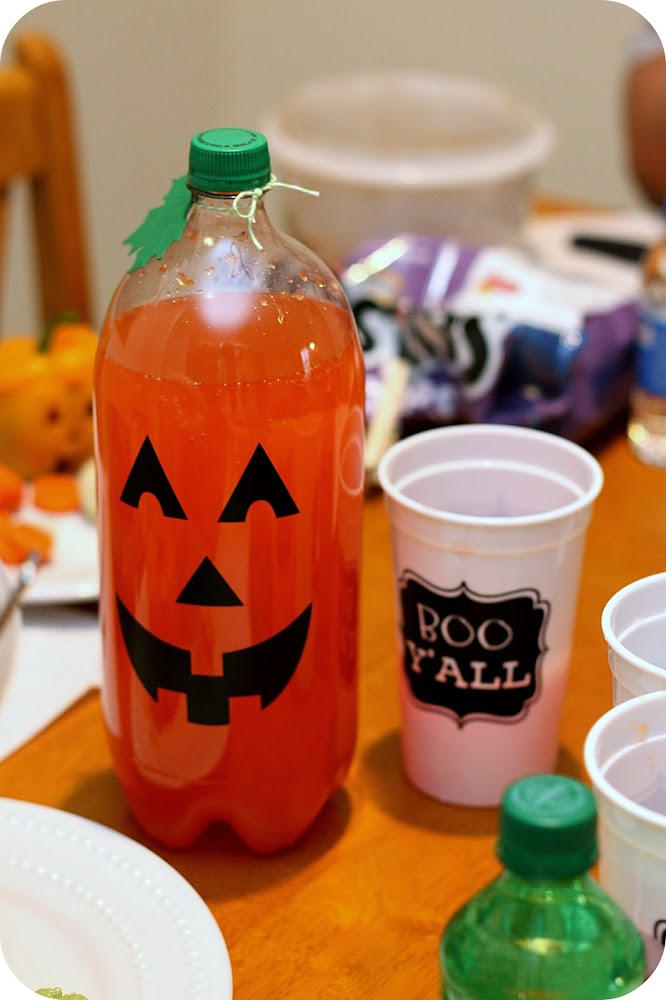 pumpkin face soda