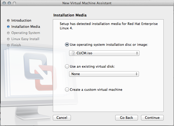 CUCM v7 0 and VMware Fusion on MAC OS X