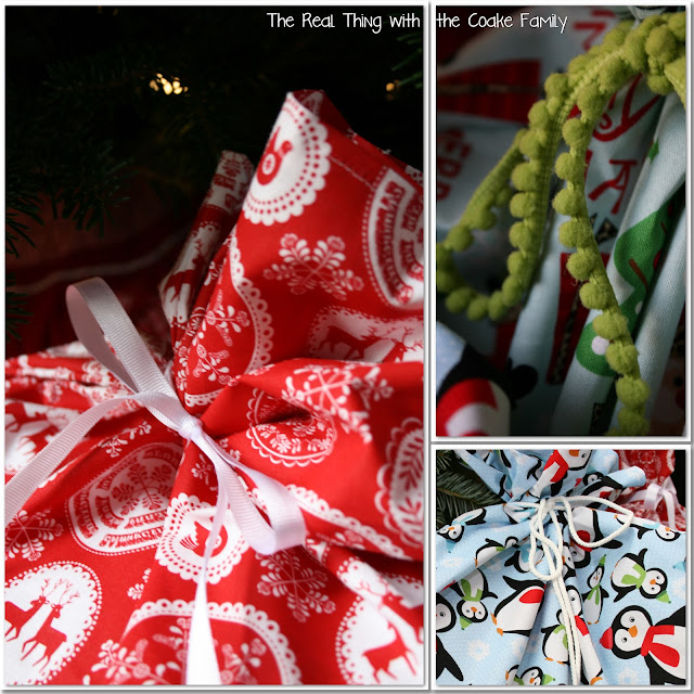 Gift Wrapping Ideas ~ Fabric Gift Bags