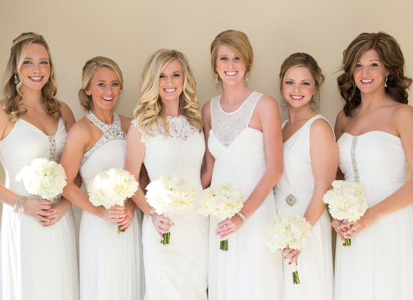 white dresses for bridal party