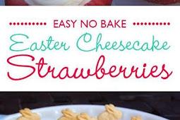 Easter Cheesecake Strawberries