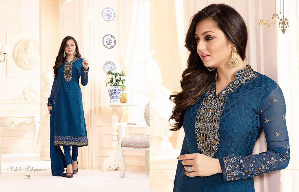 Nitya Suit Vol 103 – Brasso Collection With Embroidery Salwar Kameez