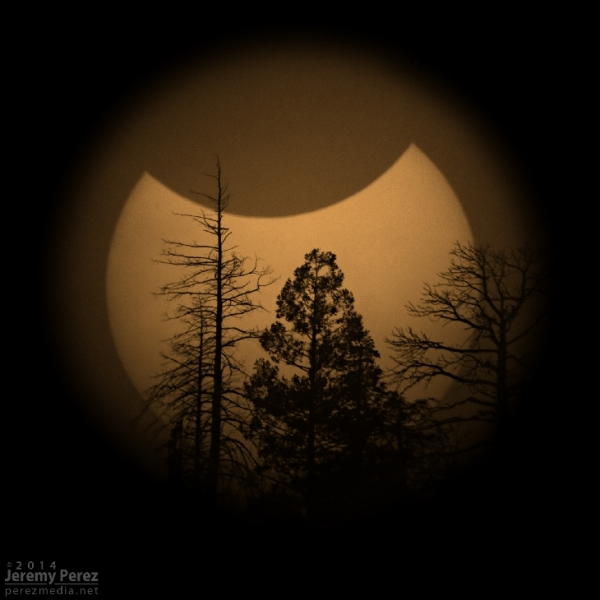 partial solar eclipse on October 23, 2014