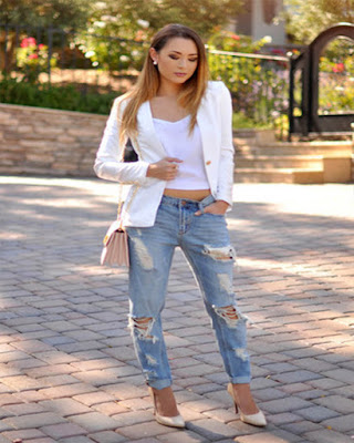 outfit casual con jeans rotos tumblr