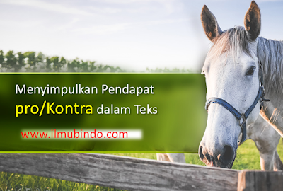 Contoh Soal Simpulan Pendapat Pro/Kontra dalam UNBK Bahasa Indonesia