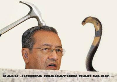 Hasil carian imej untuk katun lidah bercabag Mahathir