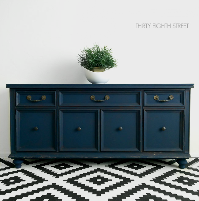 upcyling furniture, blue buffet, blue console, peacoat  blue furniture, country chic painted furniture