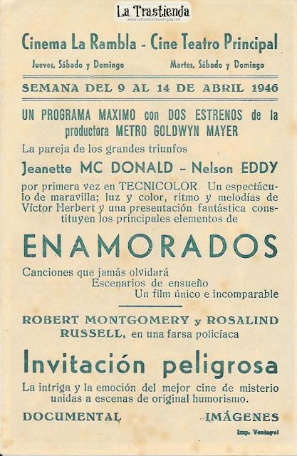 Invitación Peligrosa - Programa de Cine - Robert Montgomery - Rosalind Russell