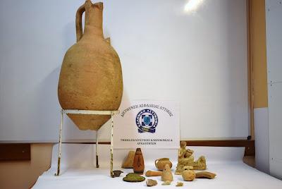 Συνελήφθη 79χρονος ημεδαπός για παράνομη κατοχή αρχαίων αντικειμένων