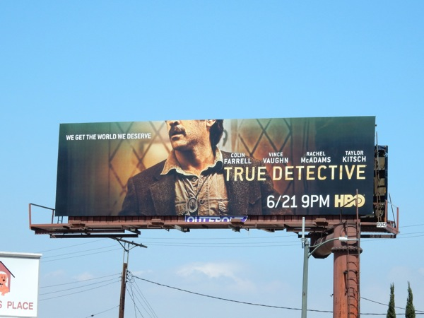Colin Farrell True Detective season 2 billboard