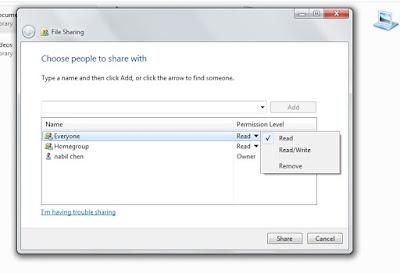 Tutorial sharing data via kabel LAN