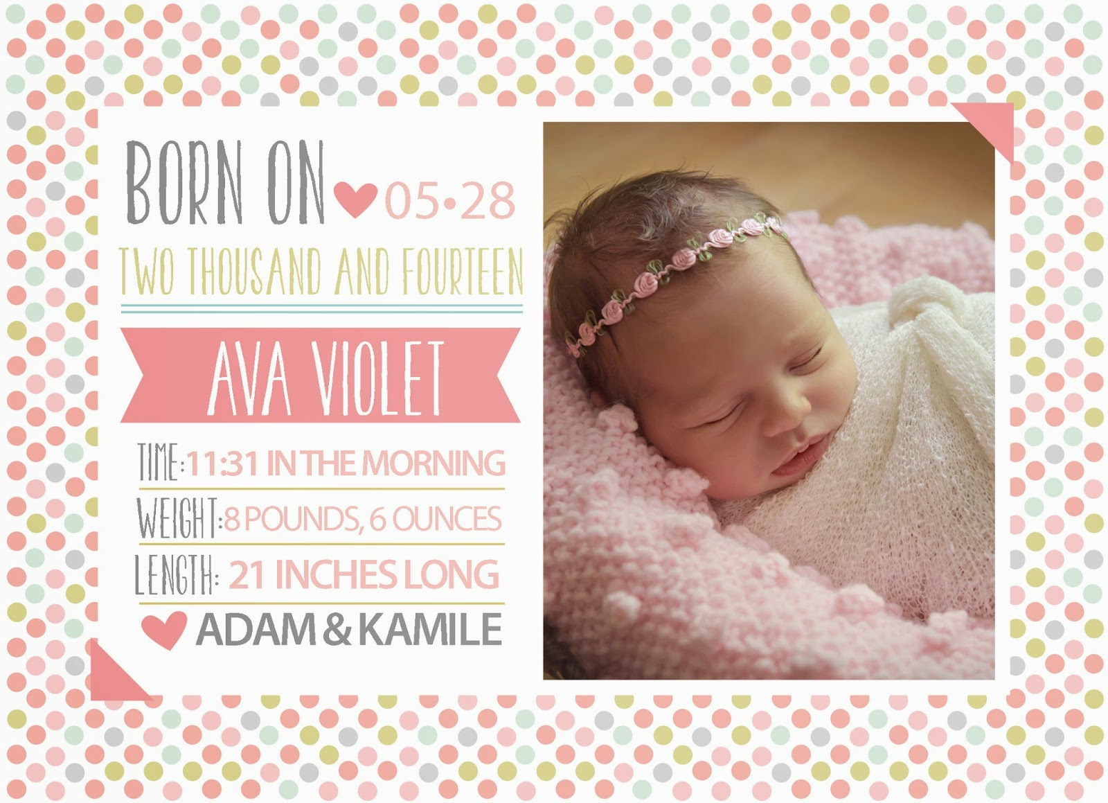 Hannah Drews Photography : Birth Announcements!- Hannah ...