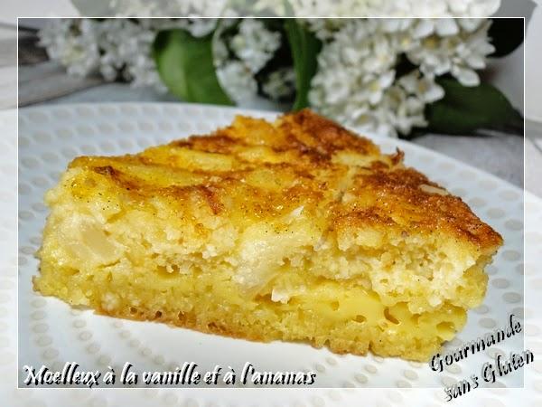 Moelleux à la vanille et ananas sans gluten