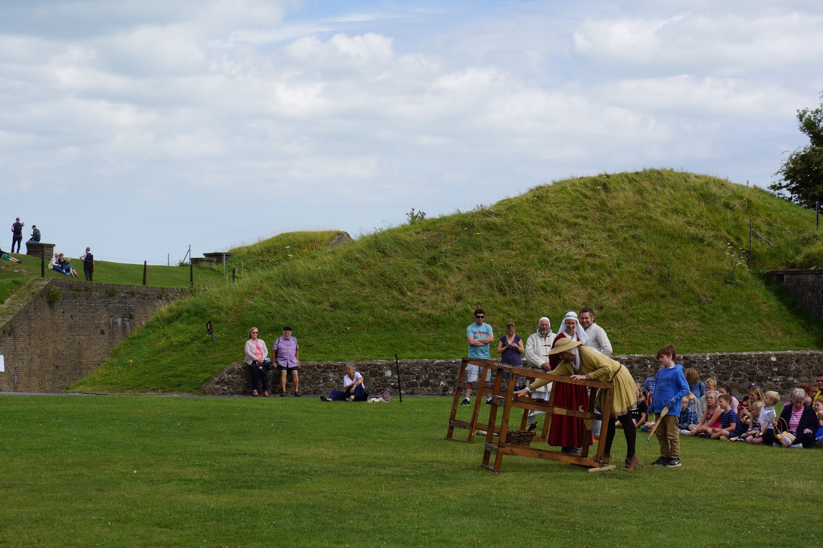childrens activity target shooting at dover castle