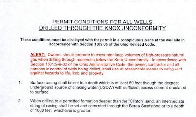 injection well permit drilling hazard alert