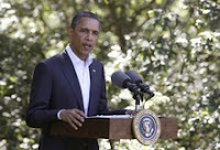 President Obama speaks about Libya on Aug. 22, 2011, at Martha's Vineyard in Massachusetts.