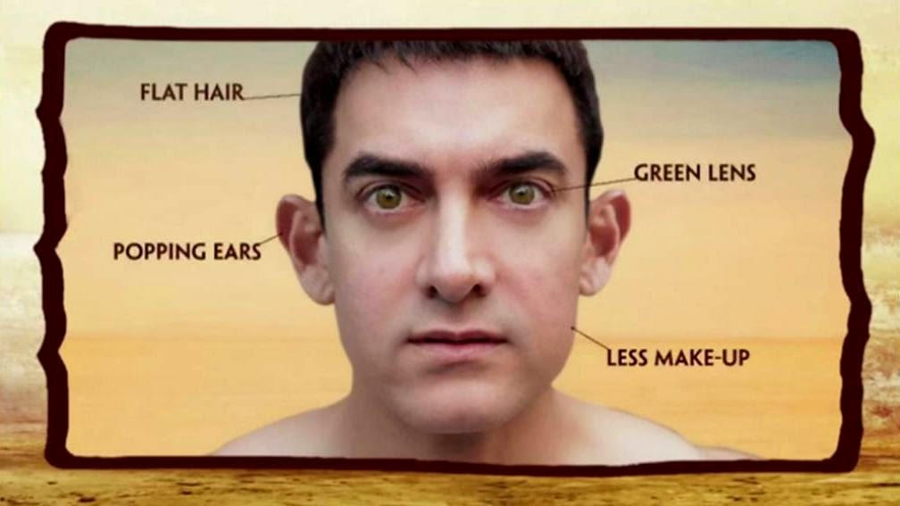 Aamir Khan's gentle face for PK (Peekay)