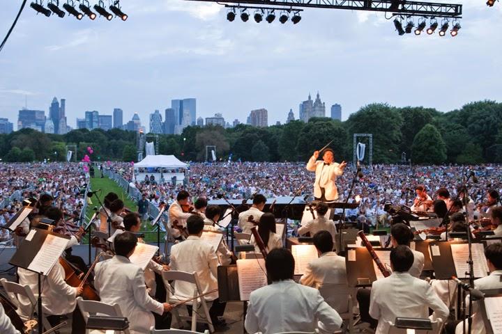 Resultado de imagen para Orquesta Filarmónica NY, Central Park 1986
