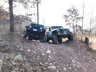 Jeeping with Jeep friends at Rausch Creek off Road park