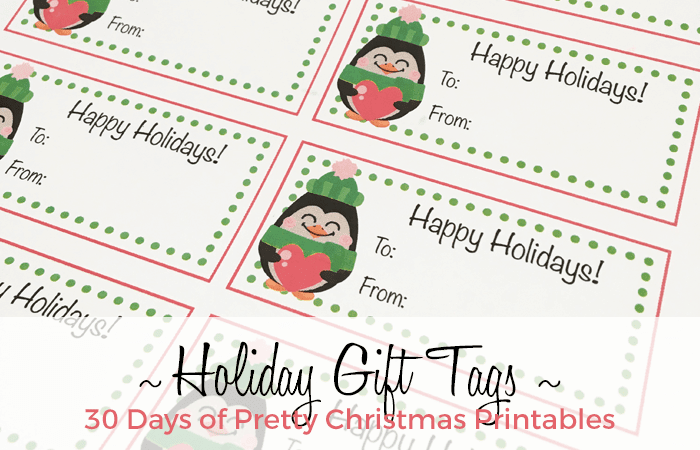 Free Penguin Holiday Gift Tags