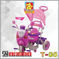 pmb t05 scoopy sepeda roda tiga