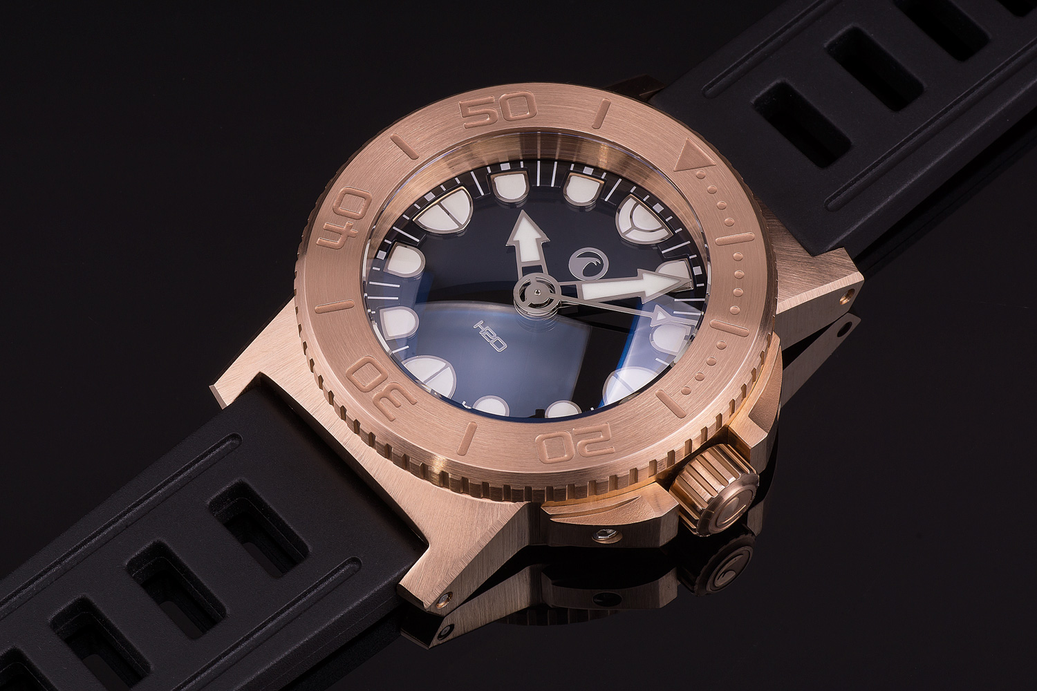 Oceanictime h2o watches orca dive bronze - Bronze dive watch ...