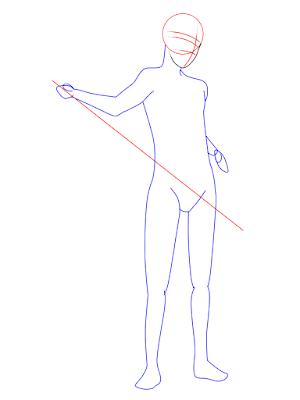 menggambar sasuke uchiha black costume langkah 7