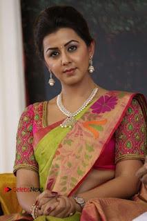 Nikki Galrani Latest Photos in Saree Neruppu Da Movie Audio Launch