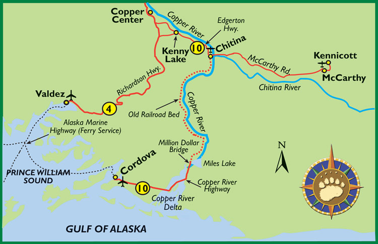 Maps of Alaska Roads By Bearfoot Guides: Map Of The Copper ...