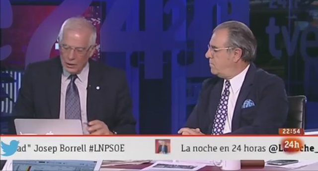 Josep Borrell calla al periodista Graciano Palomo con un ZASCA
